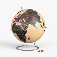 cork globe 3d max