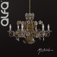 3d mechini l295 6 chandelier model