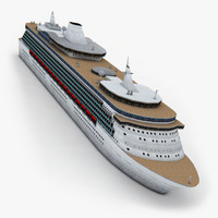 cruise ship c4d