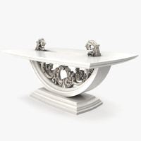 3d model luxurious belloni coffee table