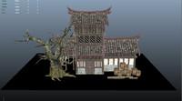 3d ancient house model