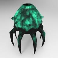 3d obj alien mushroom