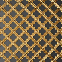 3d model of panel lattice grille