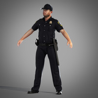 3d security officer model