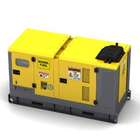 3d model of power generator
