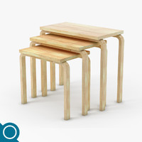 3d alvar aalto 88 table set model
