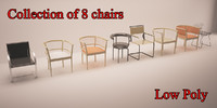 8 chairs 3d model
