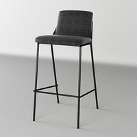 chair sling bar stool 3d max
