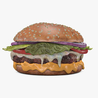 c4d cheeseburger cheese