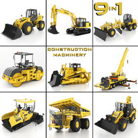 construction machinery 9 1 3d model