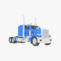 3d model classic truck