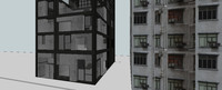 highrise building structure template 3d 3ds