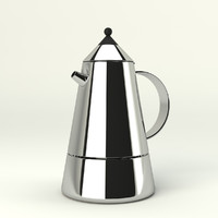 3d model coffee maker bialetti mia