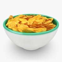 3d model realistic cereal