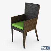 rexus chair brown v 3d model