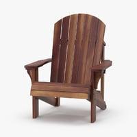 dark wood adirondack chair max