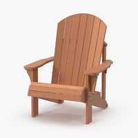 light wood adirondack chair 3d model