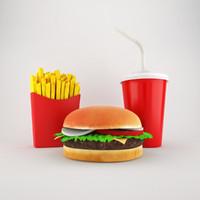 3d cheeseburger menu