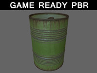 oil barrels large 3ds