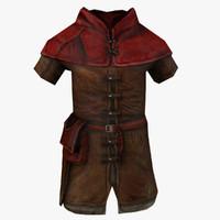 medieval cloak 3ds