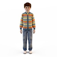 3d model fashion clothing children baby s