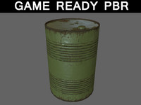 oil barrels medium 01 3d 3ds