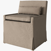 3d model of belgian dining chair slipcover
