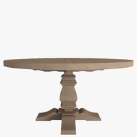 wood dining table 3d max