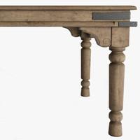 3d dining table rectangular model