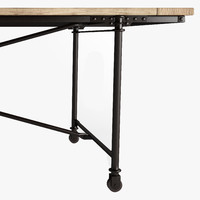 FLATIRON RECTANGULAR DINING TABLE Rust Metal