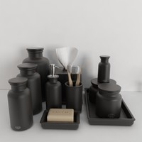 accessories flatiron union stoneware 3d max