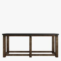 old table reclaimed zinc 3d model