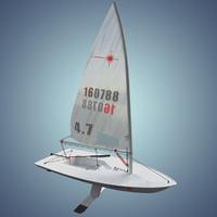 laser class sailboat max