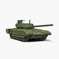 tank t-14 armata 3d model