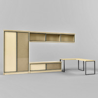 3d wardrobe coupe table model