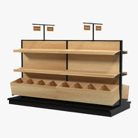 bakery display shelves 3d max