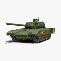 russian main battle tank 3d model