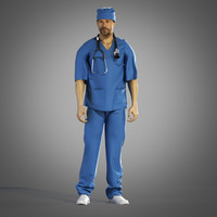 3d surgeon outfit model