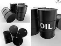 3d oil barrel model