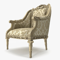 luxurious armchair 3d model