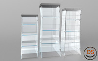 3d model of cartoon cabinet glass
