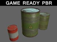 3d oil barrels 01 model