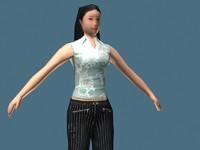 sportive girl 3d model