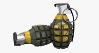 mk 2 grenade 3d obj