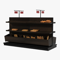 bakery display dark 3d c4d