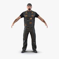 biker man fur 3d max