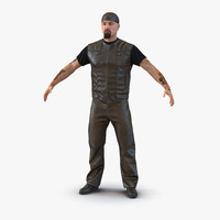 biker man fur generic 3d max
