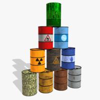 barrel contains biohazard 3d obj
