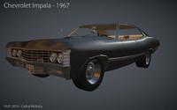 impala 1967 car 3d model