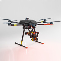 3d model drone rigged mechanics